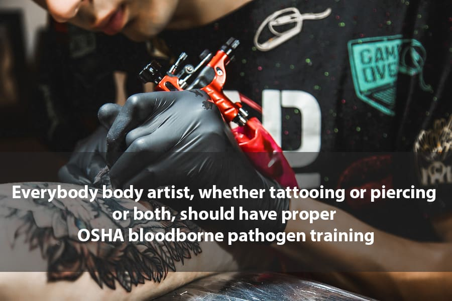 OSHA Bloodborne Pathogen Training Body Artist